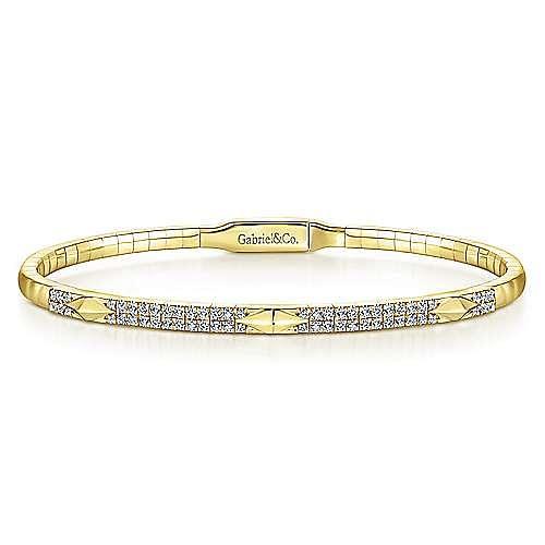 Gabriel - 14K Yellow Gold Fashion Bangle