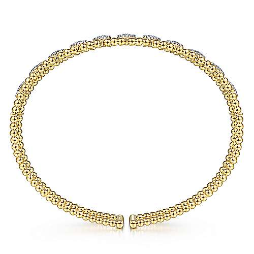 14K Yellow Gold Fashion Bangle