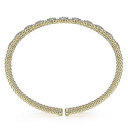 14K Yellow Gold Fashion Bangle