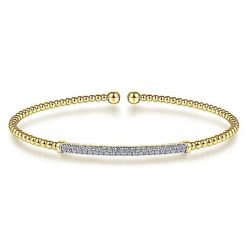 Gabriel - 14K Yellow Gold Fashion Bangle