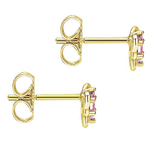 14K Yellow Gold Fashion Earrings