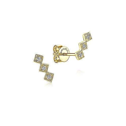14K Yellow Gold Fashion Earring