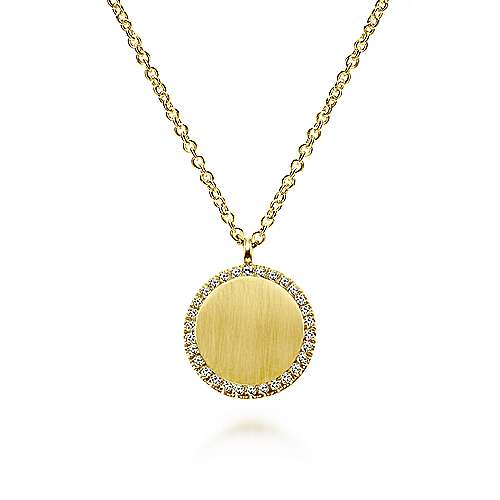 Gabriel - 14K Yellow Gold Fashion Engravable Necklace