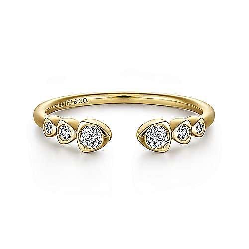 Gabriel - 14K Yellow Gold Fashion Ladies' Ring
