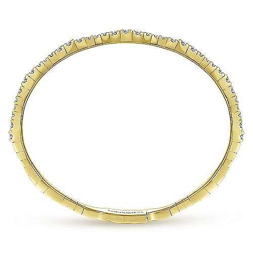 14K Yellow Gold/Graduating Diamond Bangle