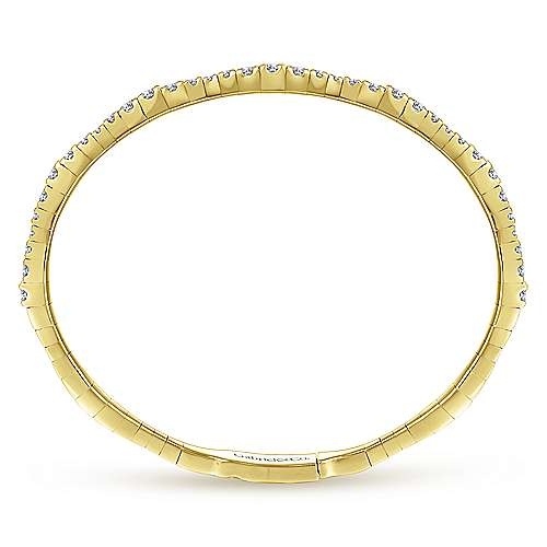 14K Yellow Gold/Graduating Diamond Bangle