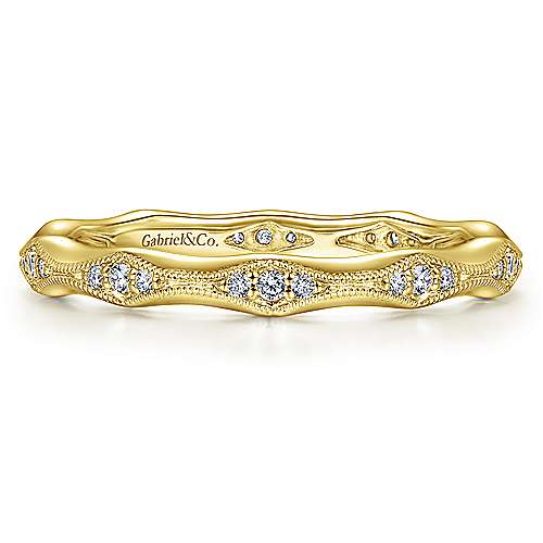 14K Yellow Gold Graduating Diamond Eternity Ring