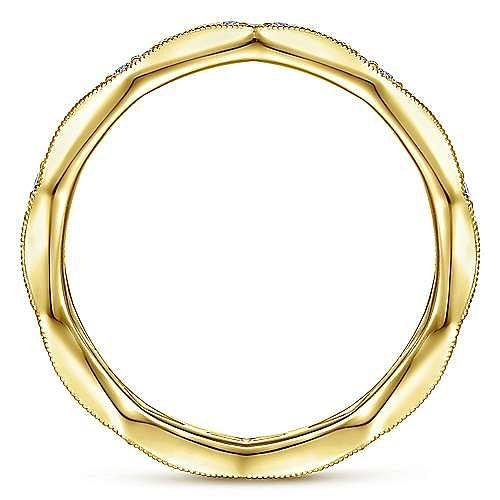 14K Yellow Gold Graduating Diamond Eternity Ring