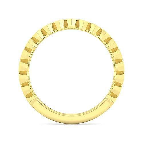 14K Yellow Gold Hexagon Shape Stackable Diamond Band