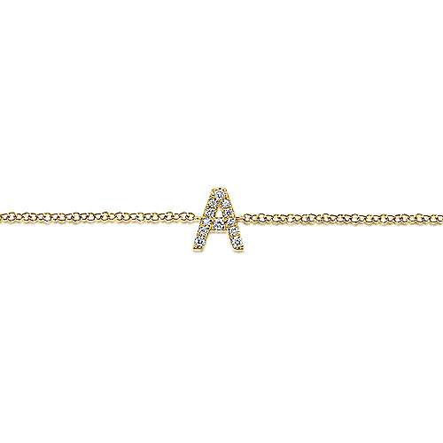 14K Yellow Gold Initial Bracelet