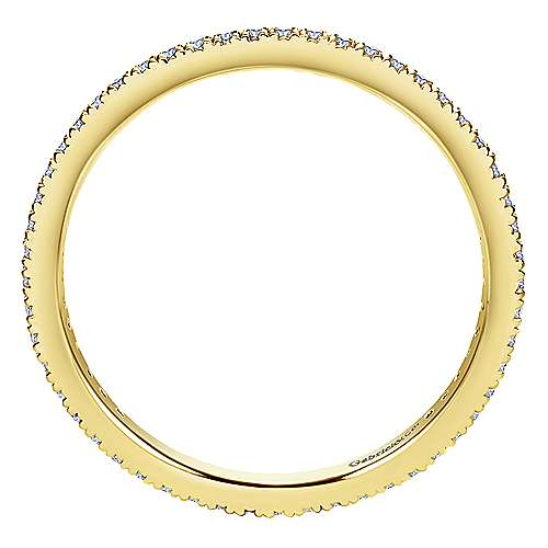 14K Yellow Gold Micro Pavé Diamond Eternity Band