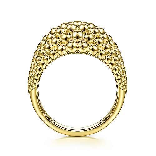 14K Yellow Gold Multi Row Bujukan Bead Ring