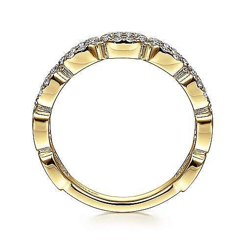 14K Yellow Gold Open Diamond Circle Band