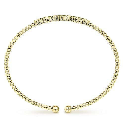 14K Yellow Gold Pavé Diamond Bangle