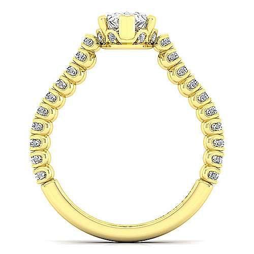 14K Yellow Gold Pear Shape Diamond Engagement Ring