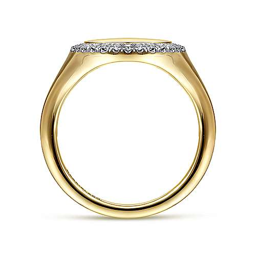 14K Yellow Gold Pinky Signet Ring