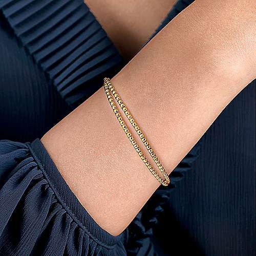 14K Yellow Gold Plain Bangle