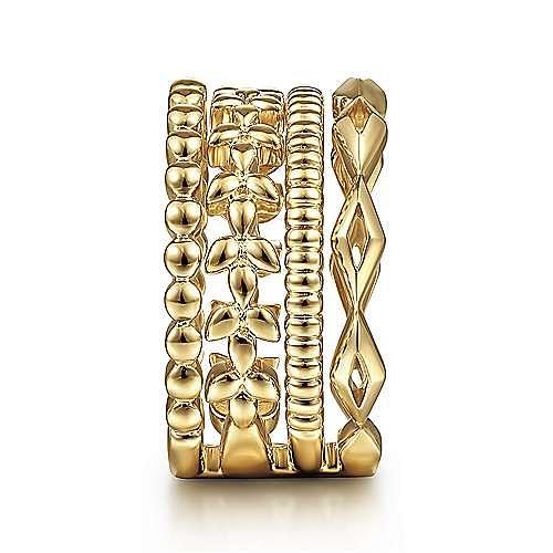 14K Yellow Gold Plain Ladies Ring
