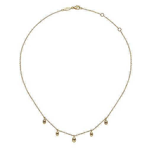 14K Yellow Gold Plain Necklace