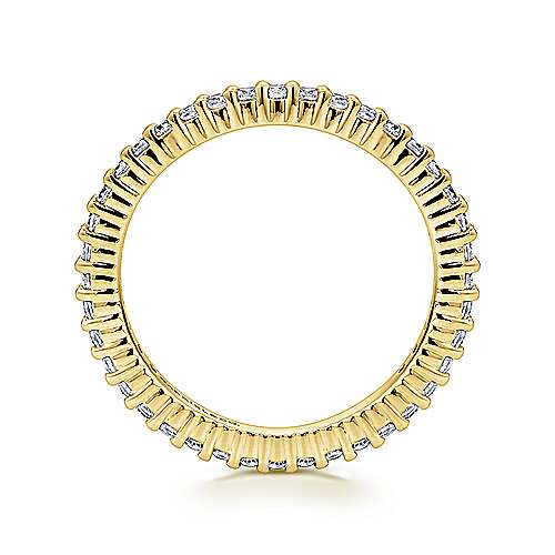 14K Yellow Gold Shared Prong Diamond Eternity Band