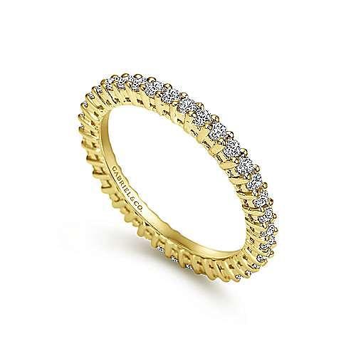 14K Yellow Gold Shared Prong Diamond Eternity Band