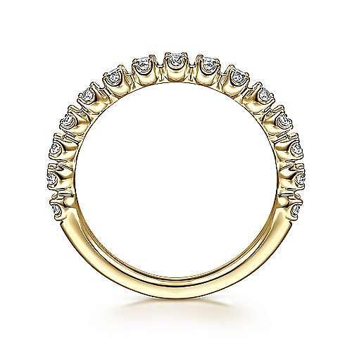 14K Yellow Gold Single Prong Diamond Band