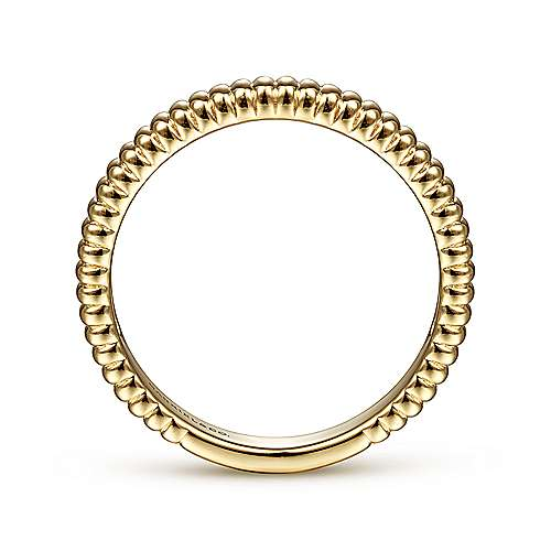 14K Yellow Gold Textured Stackable Ring