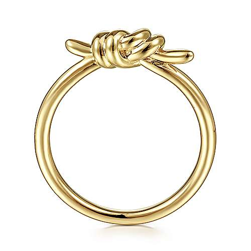 14K Yellow Gold Twisted Knot Ring