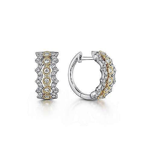 Gabriel - 14K Yellow-White Gold 10MM Fashion Earrings