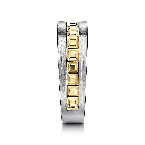 14K Yellow-White Gold Angular Ring