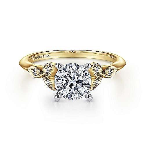Gabriel - 14K Yellow-White Gold Engagement Ring