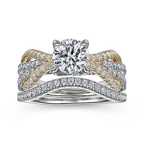 14K Yellow-White Gold Engagement Ring