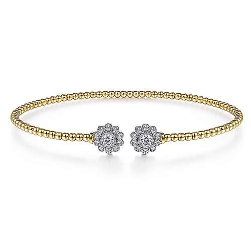Gabriel - 14K Yellow-White Gold Fashion Bangle
