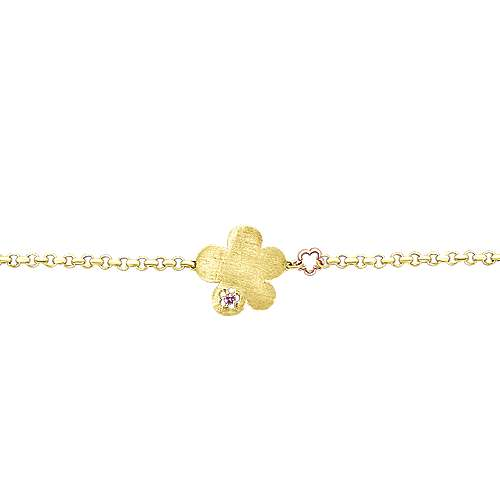 14K Yellow-White Gold Fashion Bracelet