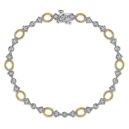 Gabriel - 14K Yellow-White Gold Fashion Bracelet