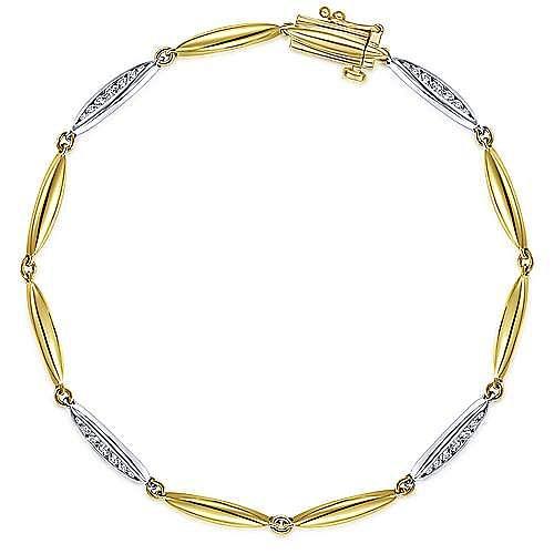 Gabriel - 14K Yellow-White Gold Fashion Bracelet