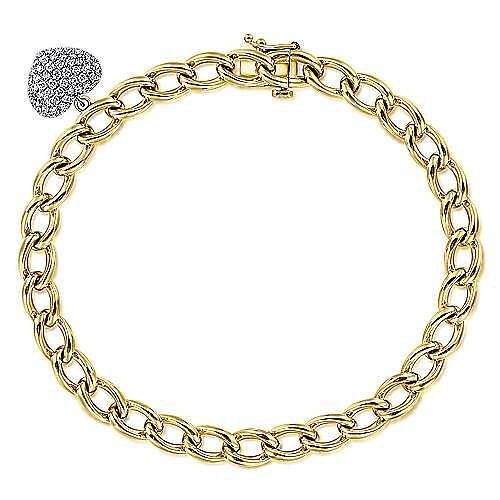 14K Yellow-White Gold Fashion Bracelet
