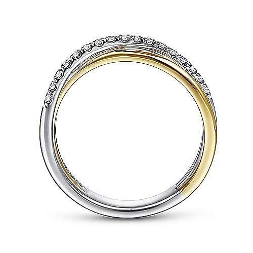 14K Yellow-White Gold Fashion Ladies' Ring