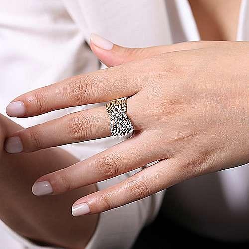 14K Yellow-White Gold Fashion Ladies Ring