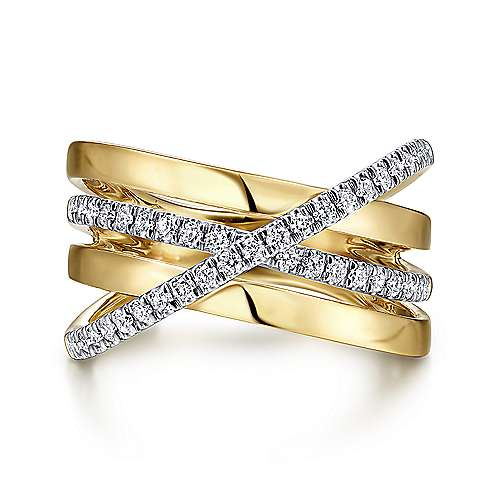 14K Yellow-White Gold Fashion Ladies' Ring