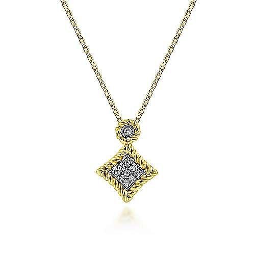 Gabriel - 14K Yellow-White Gold Fashion Necklace