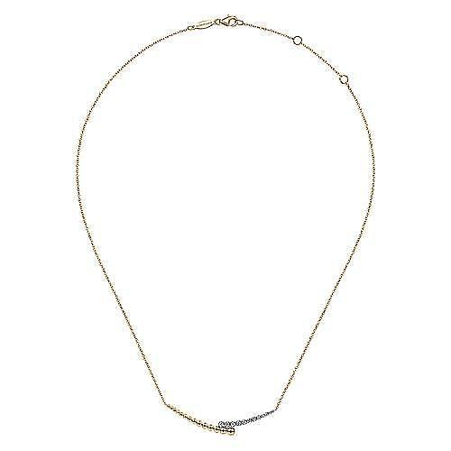 14K Yellow-White Gold Fashion Necklace