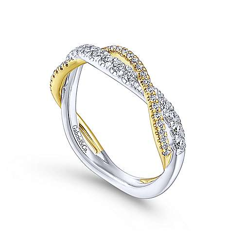 14K Yellow-White Gold Matching Wedding Band