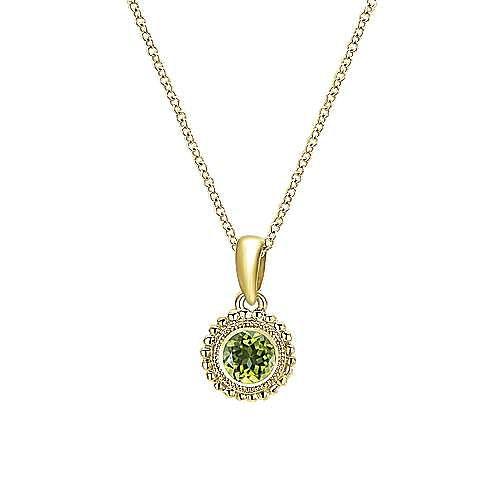 14KGold,Peridot,Necklace
