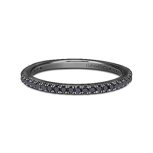 Gabriel - 14k Gold with Black Rhodium Black Diamond Eternity Band