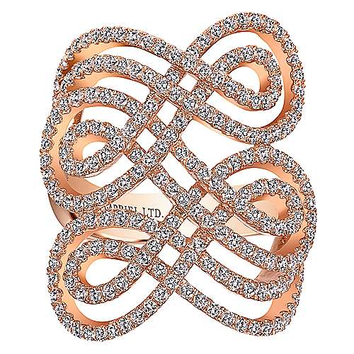 14k Rose Gold Allure Fashion Ladies' Ring angle 4