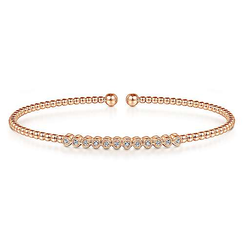 14k Rose Gold Bujukan Bangle