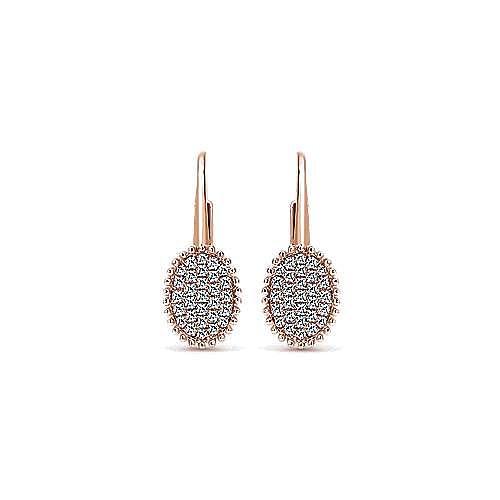 Gabriel - 14k Rose Gold Bujukan Drop Earrings