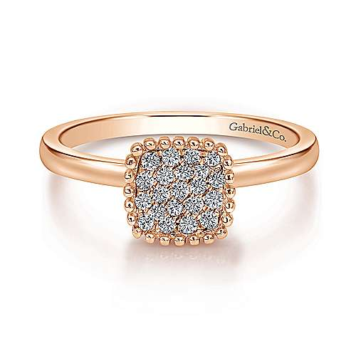 14k Rose Gold Bujukan Fashion Ladies' Ring angle 1