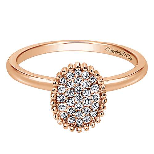 Gabriel - 14k Rose Gold Bujukan Fashion Ladies' Ring